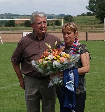 Annick Di Stéfano, pièce maitresse du club, a été mise à l'honneur pour toute sa carrière (crédit photo DR)