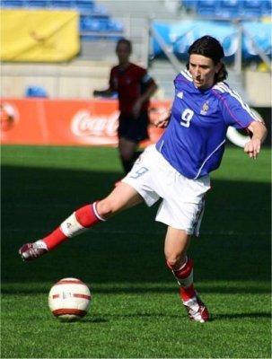 Marinette Pichon sous le maillot bleu (photo : SD)