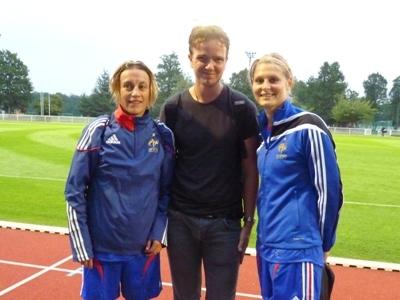 Maxime, aux côtés de Sandrine Soubeyrand et Corine Franco