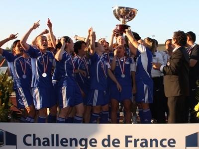 Le Challenge de France était le 2e titre féminin dans l'histoire du club après un titre de champion de D2 (photo : SD)