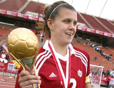 Christine Sinclair en 2002