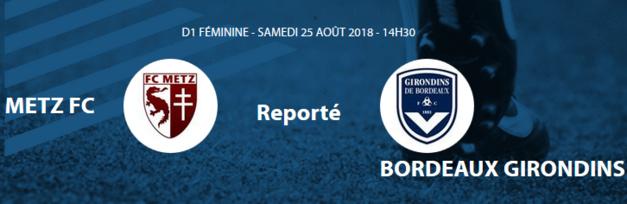 #D1F - J1 : METZ - BORDEAUX reporté