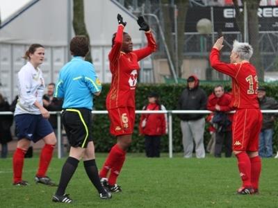 Les Mancelles avec ici Traoré et Dufeu signent une victoire à la 90e minute (photo : Sébastien Duret)