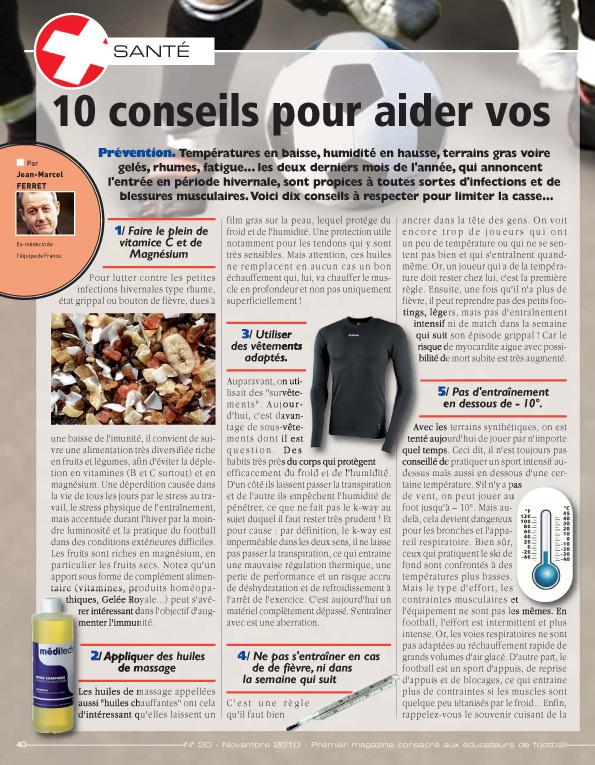 Vestiaires - Numéro 20 : 10 conseils pour affronter l'hiver...