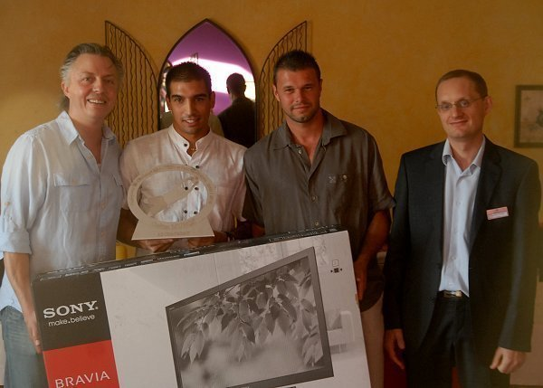 Thierry Forest (à droite), responsable du Casino de Monrond dans la Loire, avait accueilli la remise finale du Challenge Réaction des Gardiens dans son établissement en juin dernier...