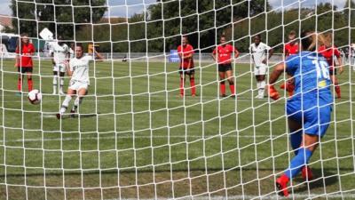 Le penalty réussi par Périsset (photo PSG.fr)
