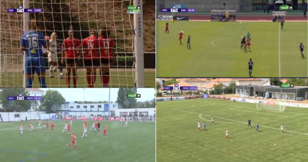 Quatre matchs en simultané étaient proposés samedi sur Foot+ (montage Sébastien Duret)