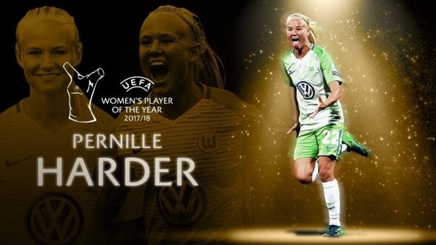 Pernille HARDER élue Joueuse UEFA de la saison 2017-2018