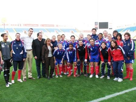 Les Bleues, à Nicosie en 2009, avaient terminé 3e du tournoi (photo : S. Duret)