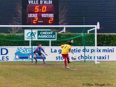 Albi - Toulouse aura été l'un des matchs à rebondissements (photo : Christophe Plautin)