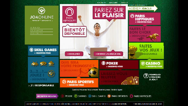 Jeux en Ligne : JOA, inaugure sa plate-forme de jeux en ligne JOAONLINE qui propose le poker, les paris et les jeux d'adresses …