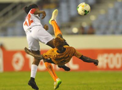 La Zambie, avec Kundanaji en orange, a scoré !