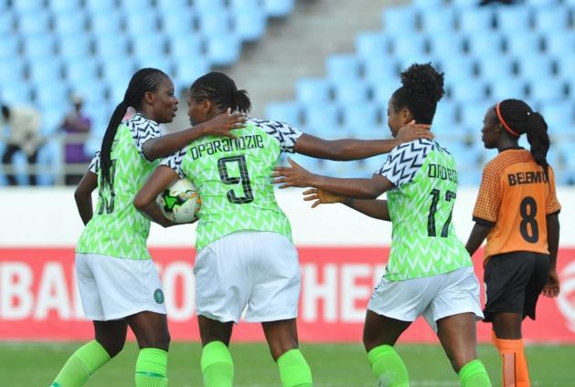 Oparanozie et le Nigeria ont bien réagi (photo CAF)