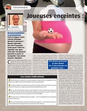 Joueuses enceintes : ce qu'il faut savoir