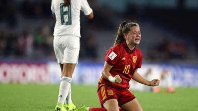 Clàudia Pina a signé un doublé en finale (photo FIFA.com)