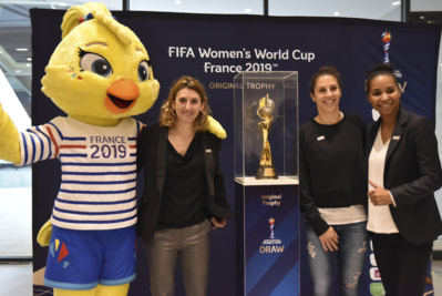 Ettie, Marinette Pichon, Carli LLoyd et Laura Georges (photo Frédérique Grando)