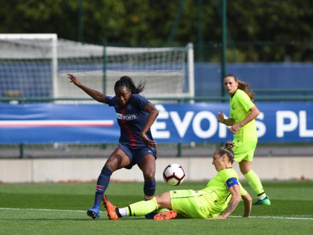 Diani lors du match aller où le PSG avait concédé le nul devant Lille (photo PSG)
