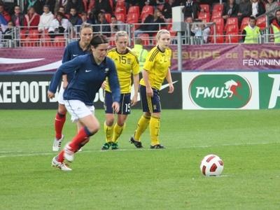 Bussaglia a transformé le penalty sans trembler (Photos : Sebastien Duret)