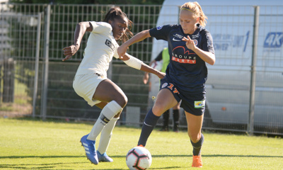 Diani et Cayman lors du match aller (photo MHSC)