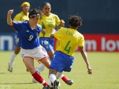 Marinette était présente à la Coupe du Monde en 2003, ici face au Brésil (photo archive)