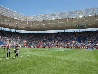 Un stade quasiment plein ! (photos : Eric Baledent)