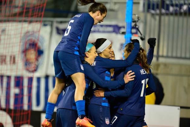 Les Américaines ont mené deux fois au score (photo US Soccer)