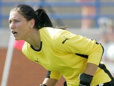 La gardienne Hope Solo a joué à Lyon en 2004-2005 (photo : USSoccer)