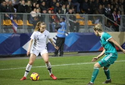 Marion Torrent face à l'Allemagne, jeudi dernier (photo Antonio Mesa/FFF)