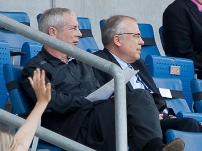 Joël Muller et Bernard Desumer étaient dans les tribunes de Sinsheim lors de Nigeria - France (photo : Eric Baledent)