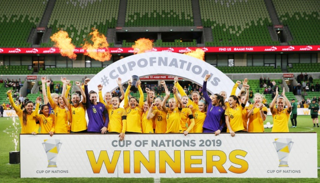 Les Matildas fêtent leur victoire