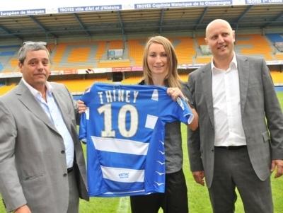 A Troyes, les abonnés de l'ESTAC ont eu la visite de Gaëtane Thiney