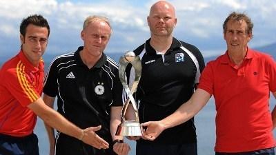Les quatre sélectionneurs (photo : uefa.com)