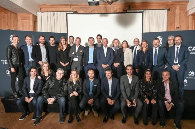 L'équipe au complet du groupe Canal + pour la compétition