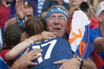 La famille de Gaëtane Thiney qui l'a suivie pendant le Mondial sera bien sûr présente à Troyes (Photo : Eric Baledent)