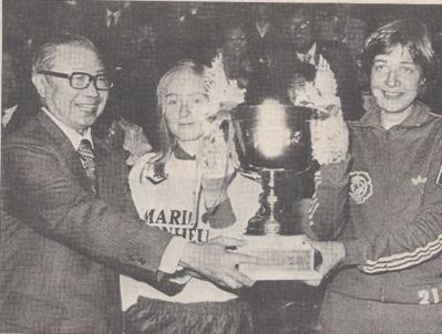 René Delahaye et la capitaine finlandaise en 1978 (photo DR)