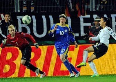 L'Allemagne de Bajramaj a régalé les 6 000 spectateurs (photo dfb.de)