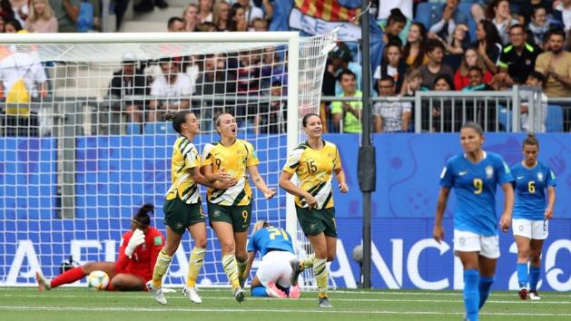 La détresse des Brésiliennes contraste avec la joie des Matildas (photo FIFA.com)