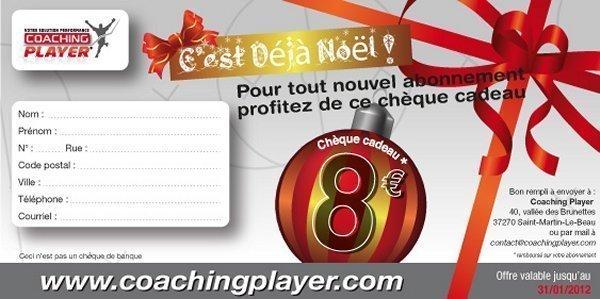 COACHING PLAYER - Bénéficiez de huit euros de remise pour les fêtes de Noël...