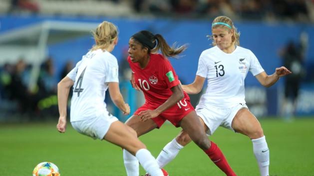 Ashley Lawrence au centre (photo FIFA.com)