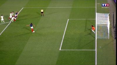 Le penalty de Renard redonné à tirer (image TF1)