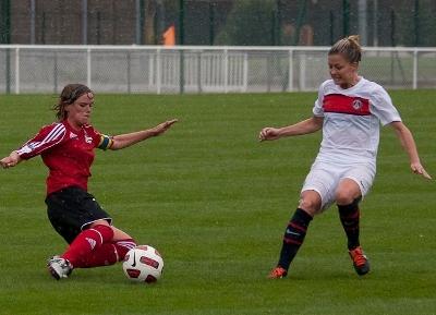 Julie Morel et Guingamp marquent deux points importants face au PSG (photo LMP/EB)