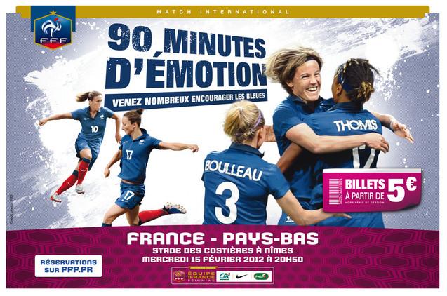 Bleues - Billetterie pour FRANCE - PAYS-BAS (15 février à Nîmes)