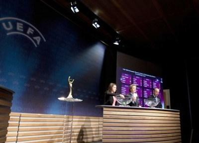 Lors du tirage au sort du 15 novembre dernier (photo UEFA)