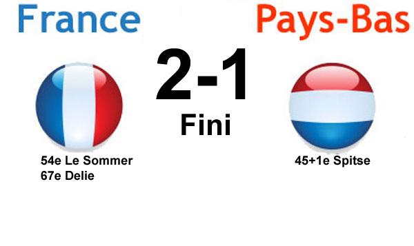 FRANCE - PAYS-BAS : 2-1