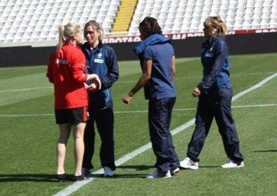 Dickenmann retrouvera ses partenaires de Lyon comme l'an passé sur la pelouse de Nicosie (photo S Duret)