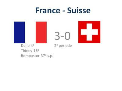 FRANCE - SUISSE : 3-0 (score final)