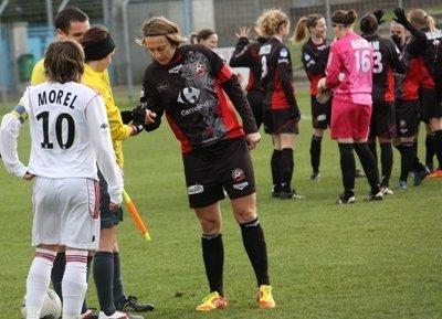 Sandrine Soubeyrand et le FCF Juvisy auront fort à faire face au Paris SG dans l'affiche de ce tour de coupe de France...