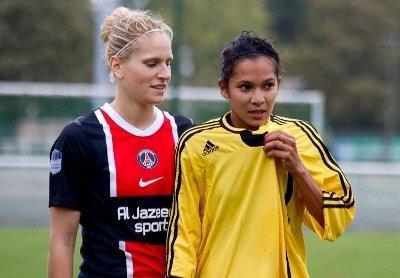 Zohra Ayachi lors du match face à son ancien club (photo Le Moustic Production)