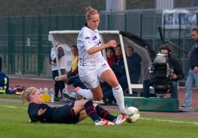 Janice Cayman aura marqué le premier but du derby (photo LMP)