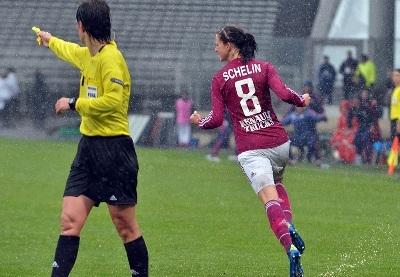 Lotta Schelin, buteuse contre Potsdam (photo A Ortega)
